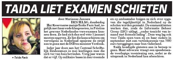 Krantenartikel Telegraaf