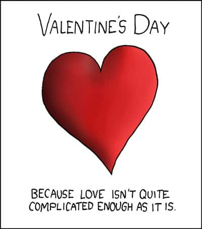 Valentines day according to XKCD.com