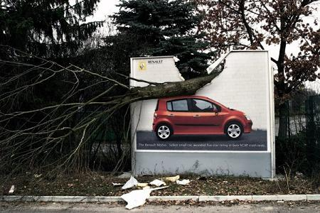 Renault gecrashed