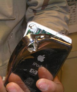kogel door de iPod