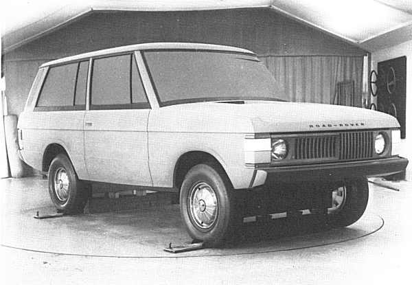 Range Rover prototype in klei