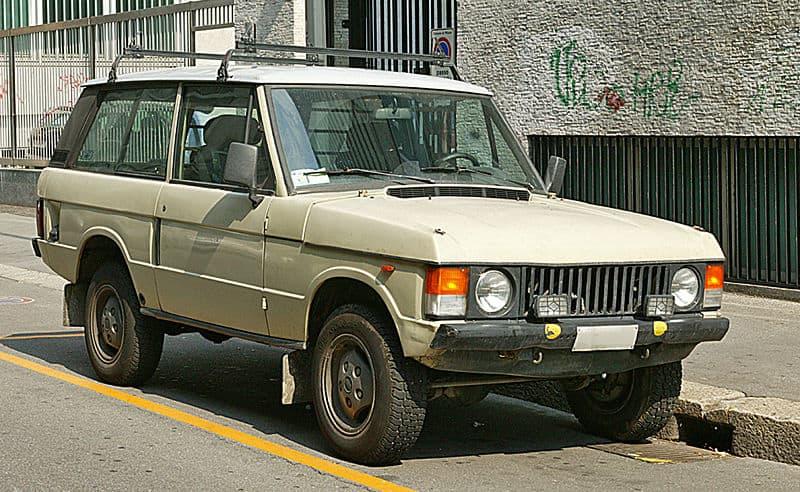 Het eerste model Range Rover Classic