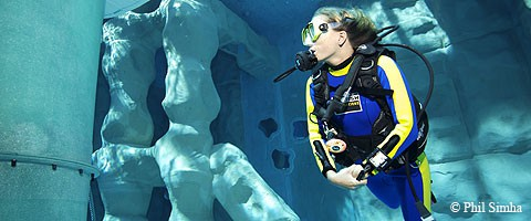 Indoor diving duiken tauchen