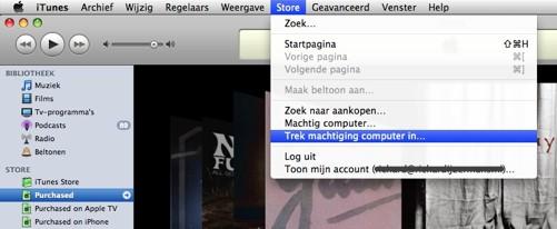 iTunes machtiging