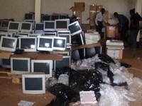computers in de voorraadruimte