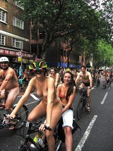 World naked bike ride in London
