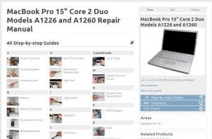 40 repair manuals @ ifixit.com