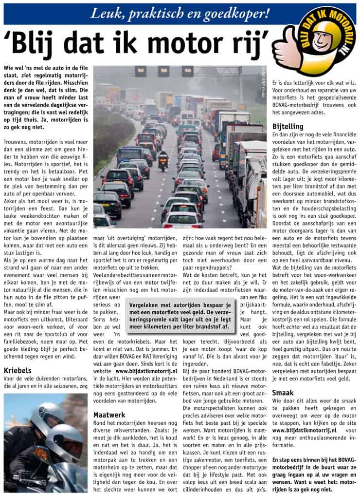 Motorrijden Kwartdagblad