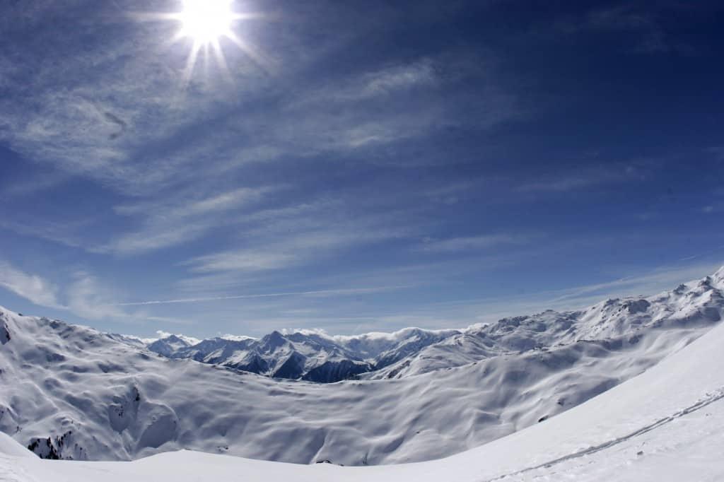 Fügen, Spieljoch, zon & sneeuw