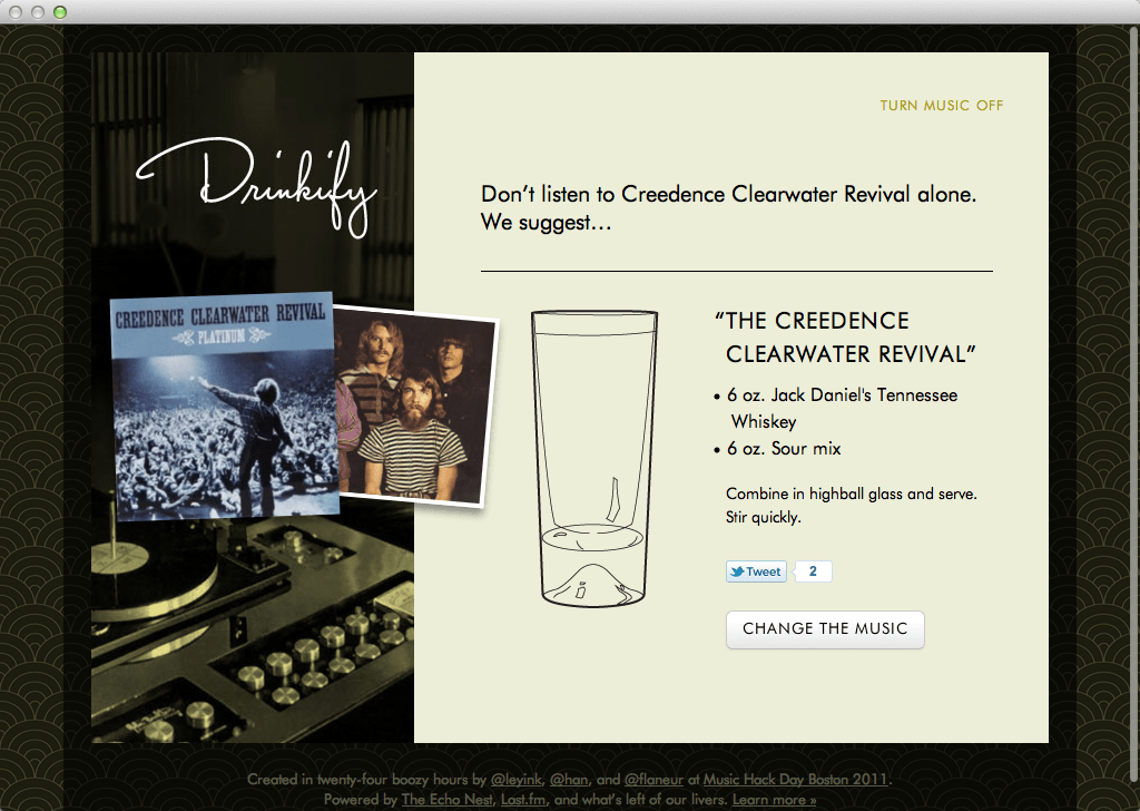 Drinkify - Creedence Clearwater Revival (20111121)