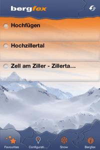 Bergfex/Ski op de iPhone