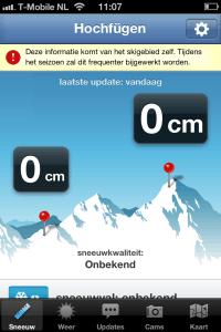 Sneeuwhoogte+ applicatie