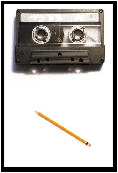 cassette bandje en het potlood - verband tussen deze twee?