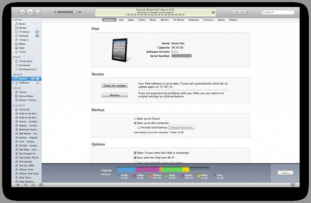 iPad instellingen