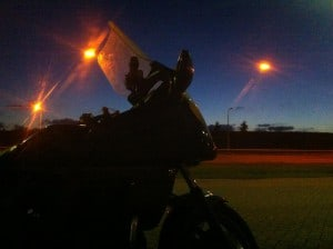 Mijn motor na zijn laatste ritje