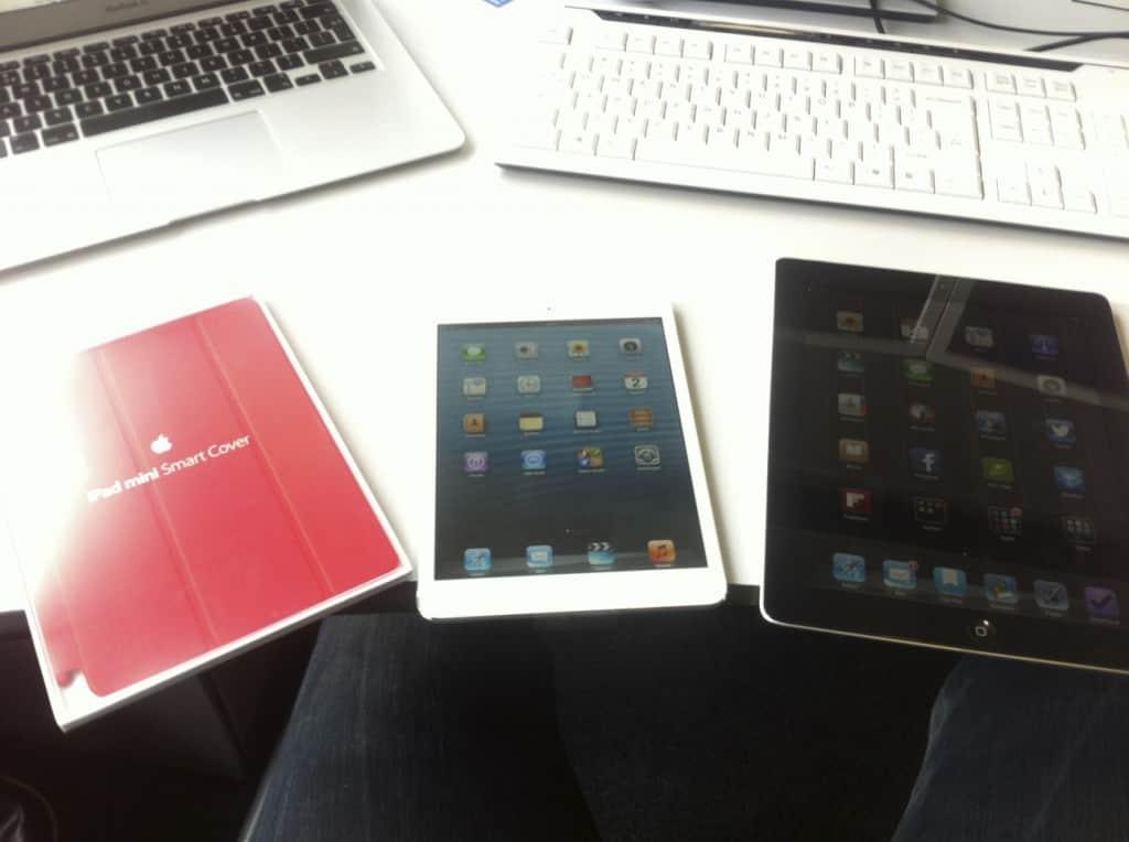 iPad Mini naast mijn iPad 2