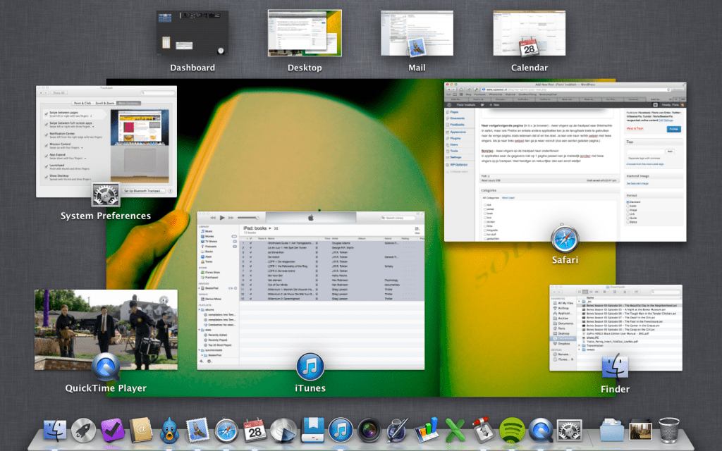 Mission Control op OS X Mountain Lion