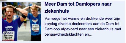 Nu.nl: Meer damlopers ziekenhuis, samenvatting