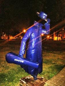 De blauwe vioolspeler