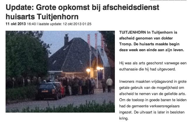 Grote opkomst bij afscheidsdienst huisarts Tuitjenhorn