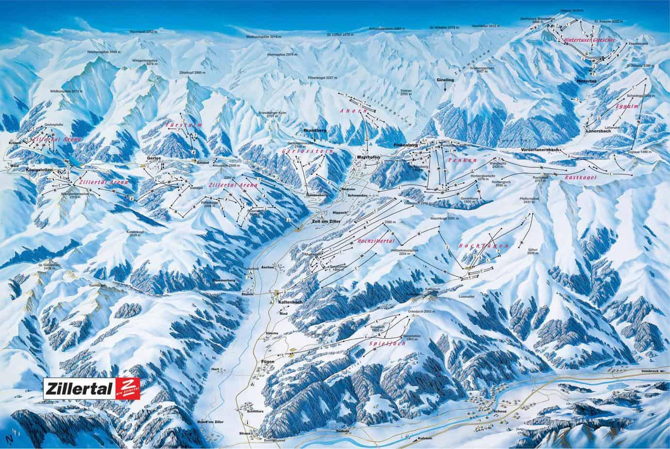 Het dal Zillertal