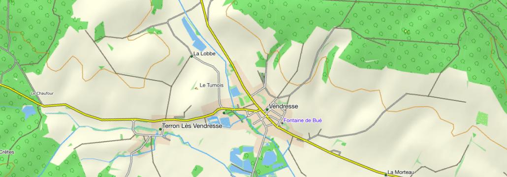 Vendresse, Frankrijk op de Topo kaart