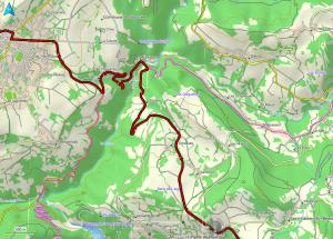 Topo kaart in Frankrijk