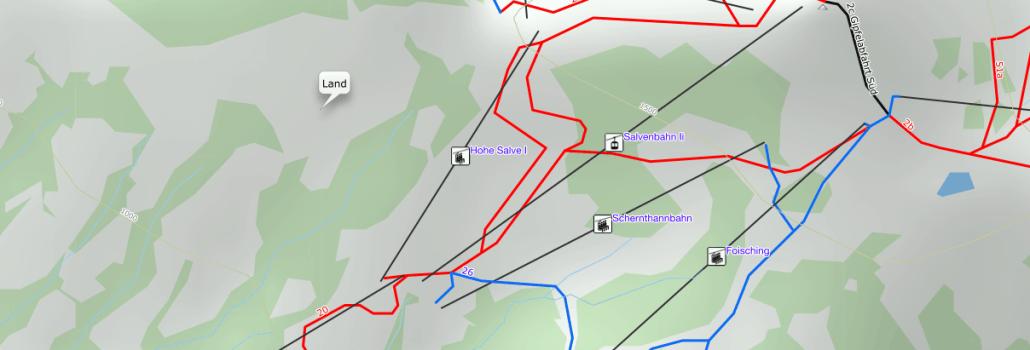 Garmin Winter Activity map