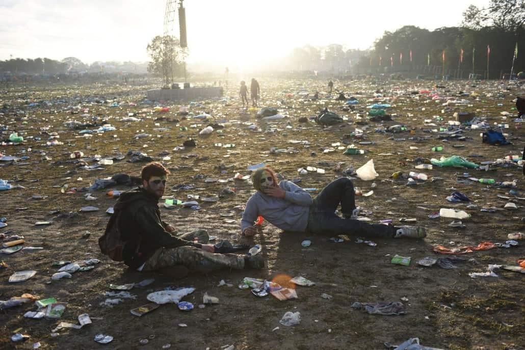 Glastonbury festival terrein