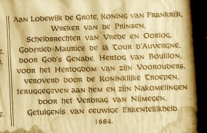 Inscriptie van Godfried van Bouillon