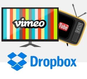 Dropbox, Vimeo of Youtube