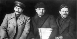 Stalin, Lenin en Kalinin