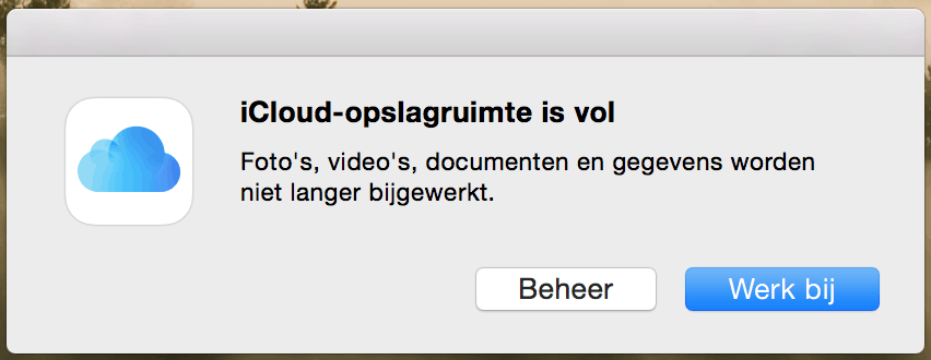 iCloud opslagruimte is vol